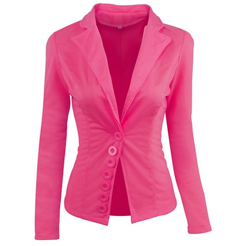 Fashion Women Blazer Suits Candy Color Long Sleeve Women's Spring Jackets Causal Button Ladies Blazer Spring WH024