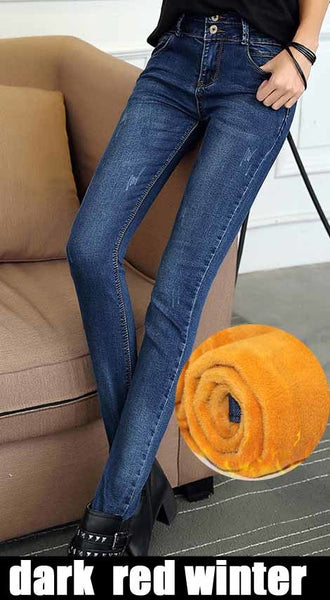 Guoran 2020 Jeans Women summer pencil Pants spring Jeans Female Stretch Straight Fashion High Waist Jeans Femme Denim Pants
