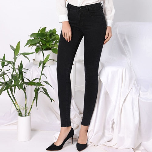 High Waist Black Jeans Women Plus Size Skinny High Stretch Women's Jeans For Woman Denim Pencil Pants Trousers Feminino TATARIA