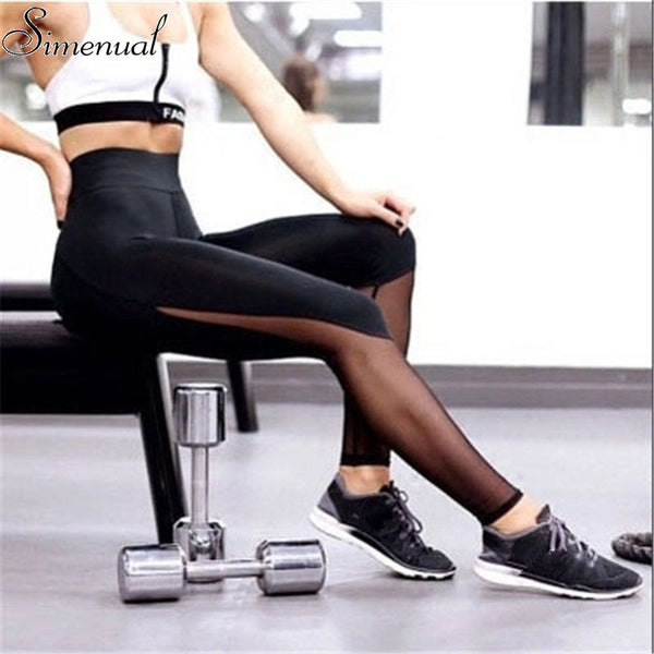 High waist mesh leggings athleisure 2018 sporty style fitness women slim legging harajuku summer black sexy leggins push up sale