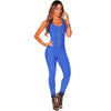 Sexy Club Zip Up Black Bodycon Jumpsuit Summer Autumn Sleeveless Deep V Neck Backless Women Rompers Slim Stretch Overalls