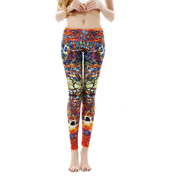 New Arrival Printed Women Leggings Winding Roots Leggins for Woman women pant