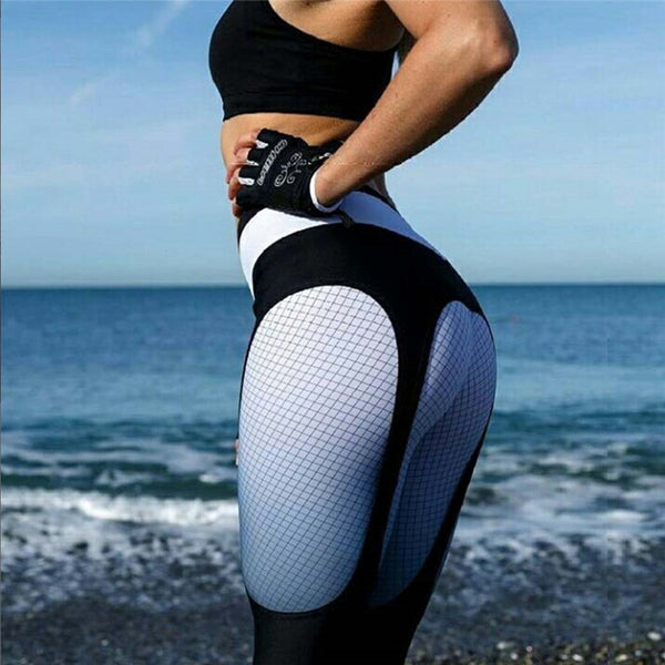 Fashion Fitness Push Up Leggings Women Patchwork Printed Legging Bodybuilding Jeggings Workout Leggins S-L 2 Colors