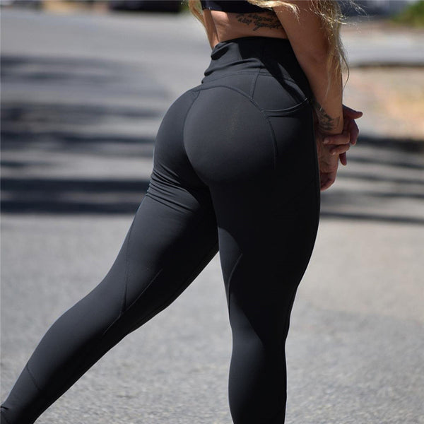 Solid Black High Waist Leggings Women Clothing Sexy Push Up Leggins Female Skinny Trousers Fitness Gothics 5 Color