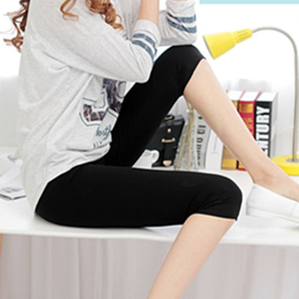 New Arrival Sexy Solid Women Summer Leggings High Stretched Jeggings Fitness short legging
