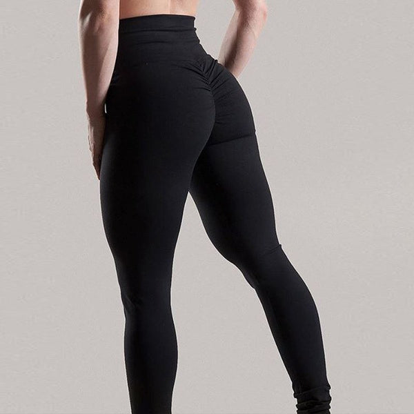 New Bottom Wrinkles Push Up Leggings Women Fitness Slim Jeggings High Elastic Wicking Dry Quick Sporting Pants