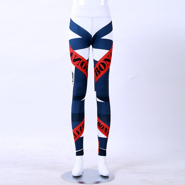 New Print Letter Leggings Women Fitness High Elastic Skinny Pants Fashion Clothing For Women Pants