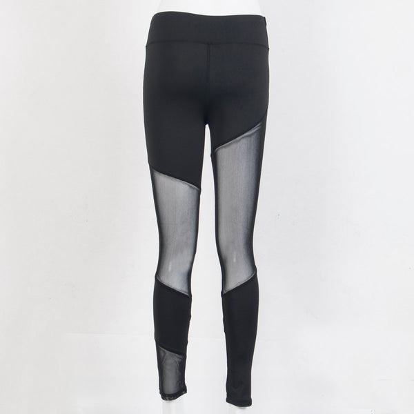 New Women Mesh Sheer Black High Waist High Waist Pants See through Fitness Stretch Leggings Ladies