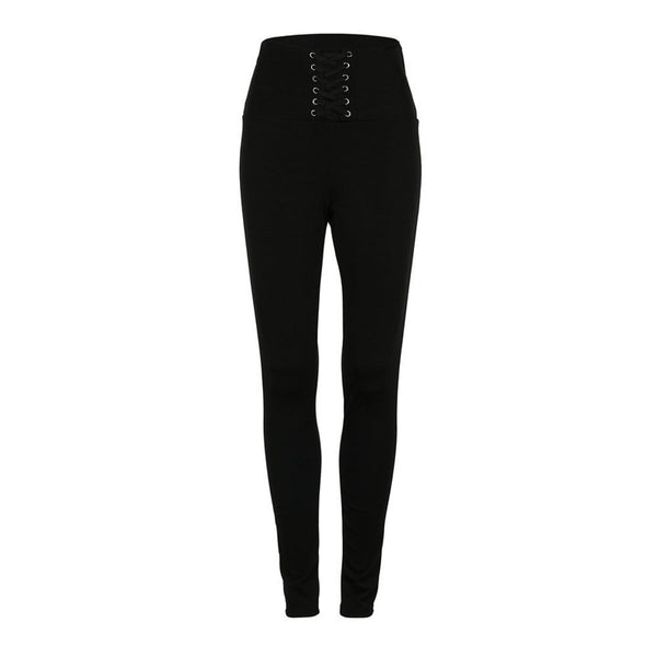 2018 High Waist Sporting Fitness Leggings Women Jeggings Autumn Lace Up Casual Pants Athleisure Elastic Push Up Leggings