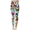 New Floral Skull Leggings Women HD Pattern Printed Leggings Woman Pants Dropship
