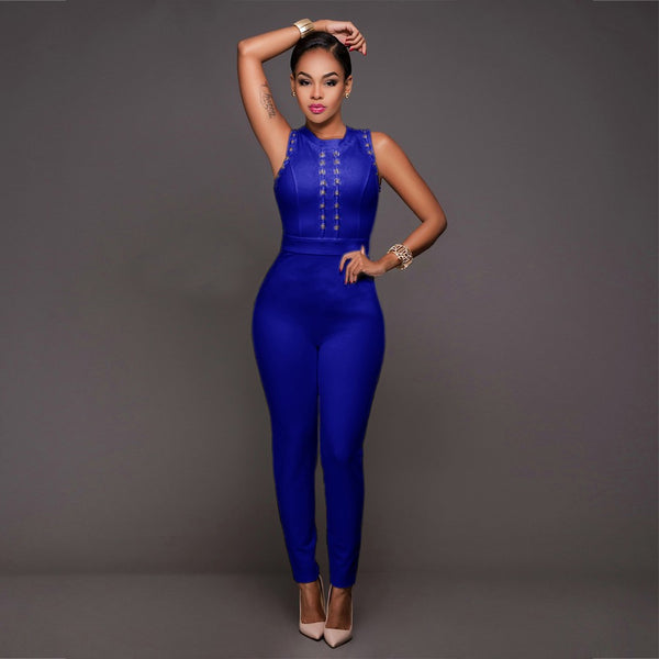 Sexy Jumpsuits for Women 2020 Summer New Body Long Bodycon Full Bodysuit Bandage Rompers Womens Jumpsuit Combinaison Femme