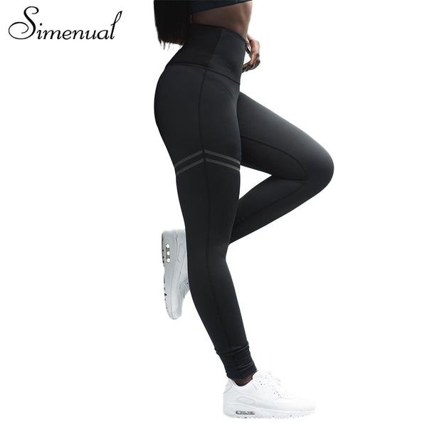 New arrival sportswear leggings for women striped slim sexy fitness legging female athleisure bodybuilding pants