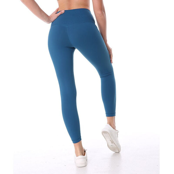 High Waist Solid Sporting Legging Nylon Spandex High Quality Ankle Length Workout Leggin Candy Color Jegging Leggings