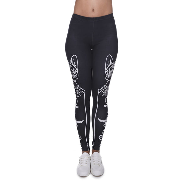 Winter Leggings Women 3D Print Egyptian Cat Slim Jeggings Sexy Leggins New Tayt Fitness Legging Calzas Mujer Soft Legins Girls