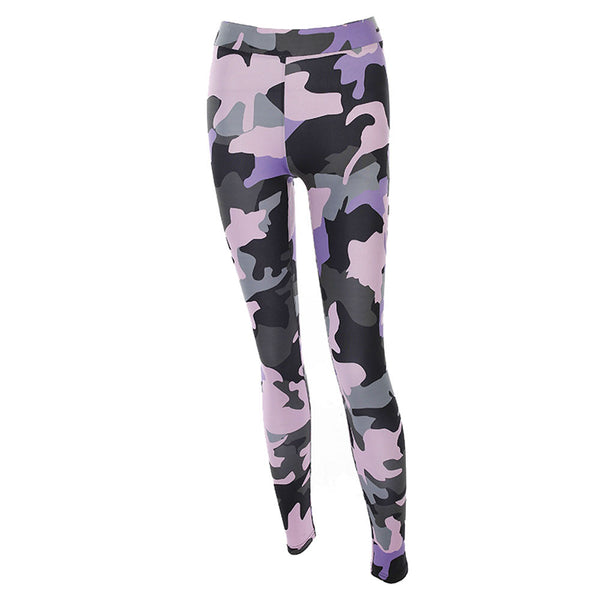 Women Hight Waist Pants Fitness Leggings Stretch Camouflage Fitness Exercise Pants Trouser pantalon mujer