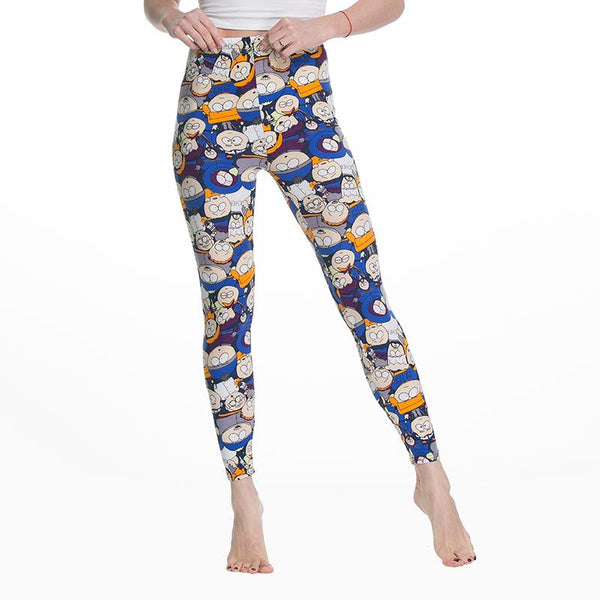 Women's Leggings Slim Digital Cartoon Avatar Printing Simple Large yard Leggings Spring New Women