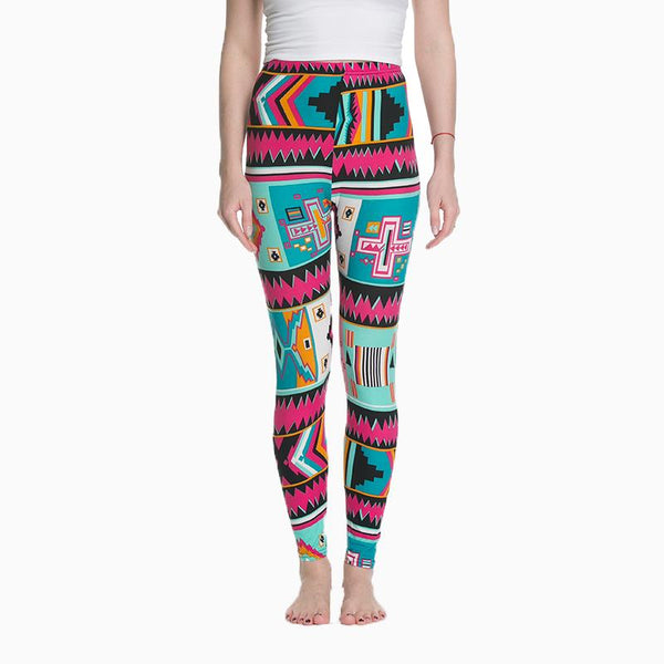 Women's Leggings Slim Digital Printing Geometric Stripe New Leggings Spring Summer Large Size Fashion Women