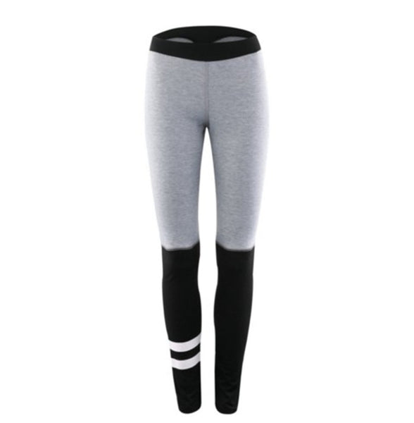 Womens Sporting Leggings Gray Black Patchwork Workout Women Fitness Legging Pants Slim Jeggings Wicking Force Exercise Clothes