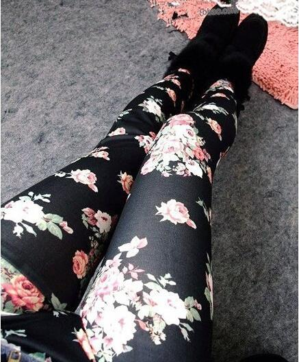 Hot 2020 Print Flower Leggings Leggins Plus Size Legins Guitar Plaid Thin Pant Fashion Stripe Women Aptitud Slim Trousers