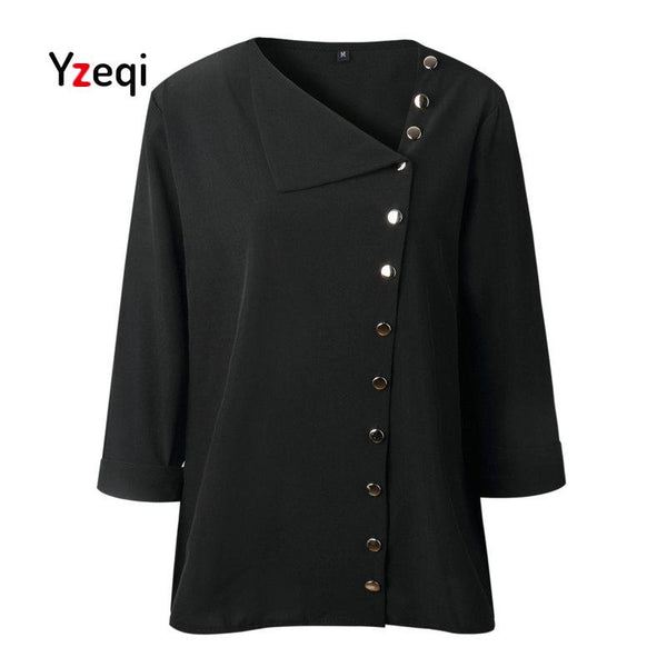 Chiffon Women Blouse Shirt Long Sleeve Fashion New 2018 Autumn Office Ladies Blouses Work Black Tops Womens Clothing