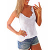 S-5XL Blusas 2020 Sexy Women Summer Style Tank Tops Lace Casual Camis Black White Sleeveless Tops