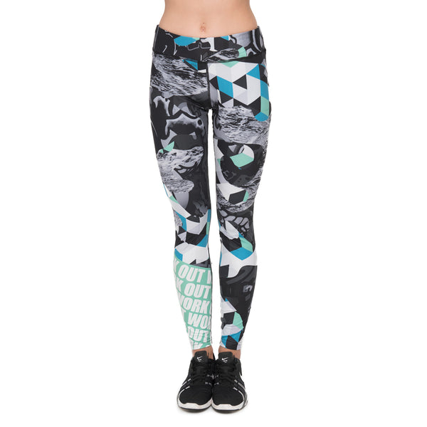 High Quality Women Legging Work Out Tattoo Printing Leggings Fitness Woman High Waist Pants