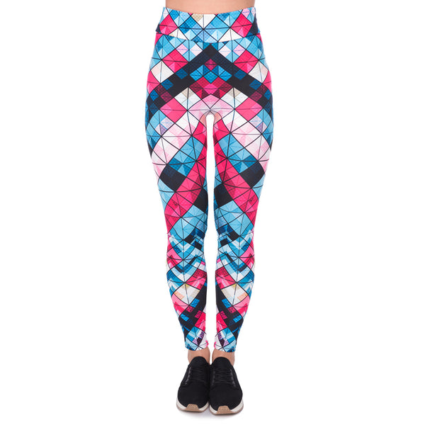 Women High Waist Legging Geometric Printing Fashion Leggings High Quality Woman Pants