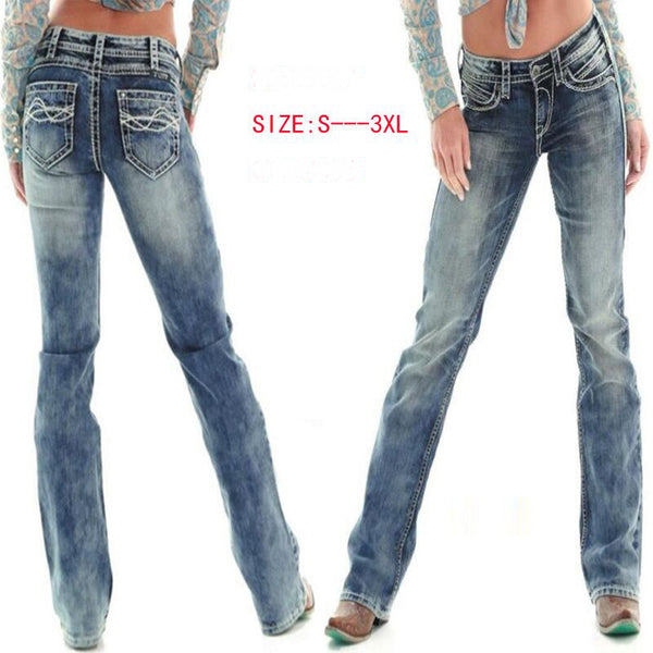 casual straight Jeans Women loose fit low Waist regular wide leg Denim Pants Elastic Stretch girl friend classic bf Jeans femme