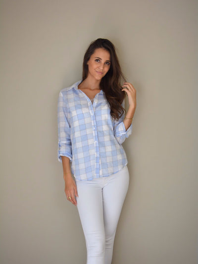 Blue Square blouse