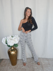 Dots flared pants