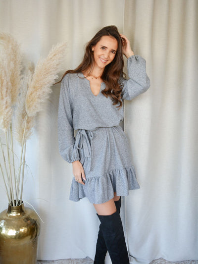 Livily peplum dress grey