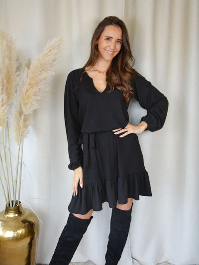 Livily Peplum dress black