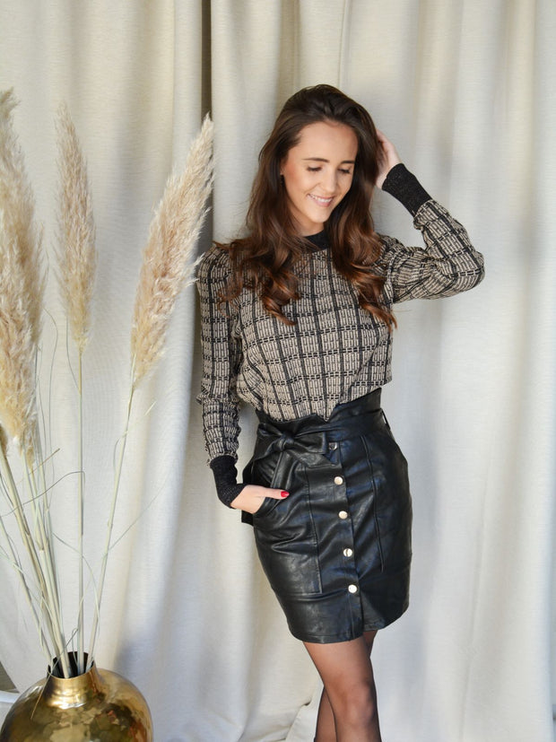 Faux leather joline skirt