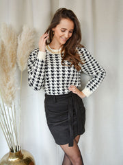 Suede skirt black