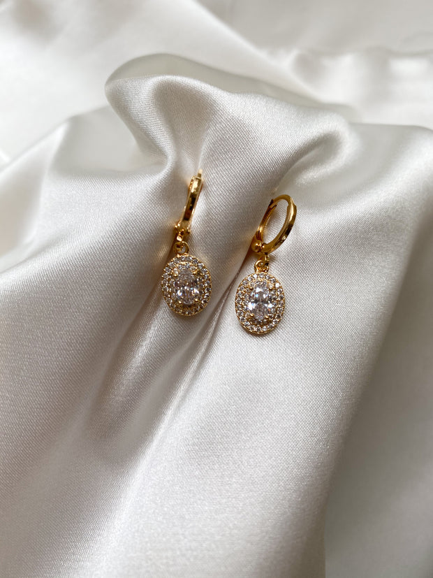 Sparkle gold earrings