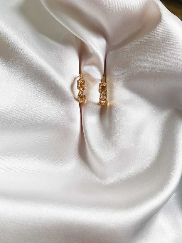 Sparkle chain earrings