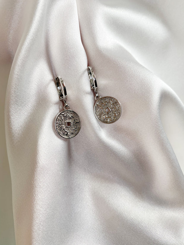 Didi silver earrings