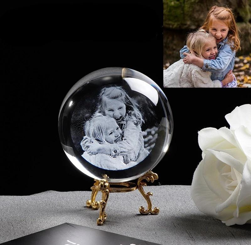 Crystalized Memory { Personalized Crystal Photo Globe}