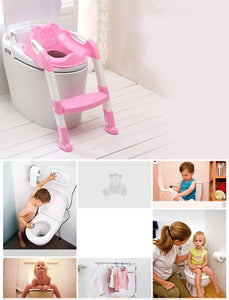Toddler Potty Training Seat w/ Adjustable Ladder