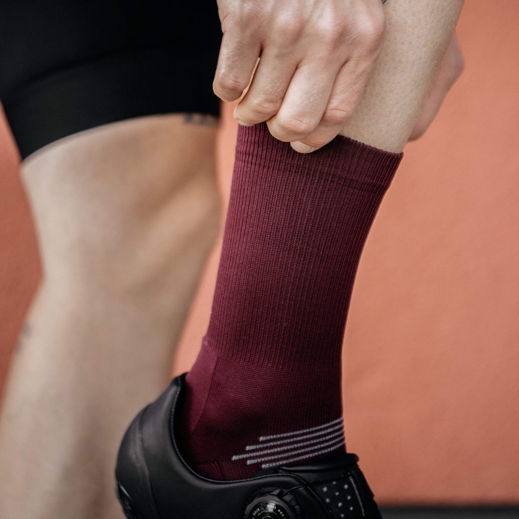 PIPPO - Performance Socks Classic Bordeaux Red