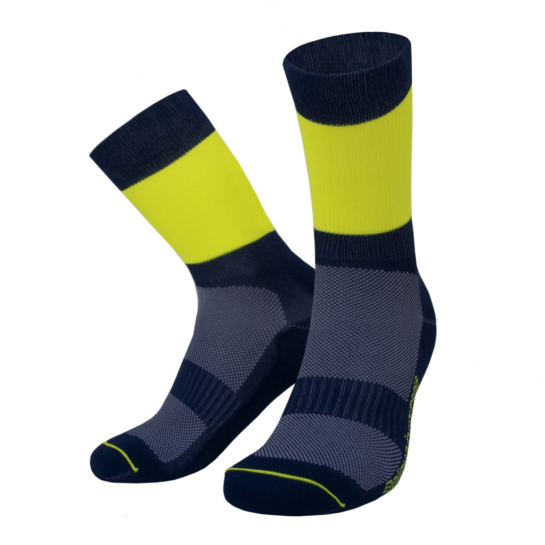 PIPPO - Triathlon Performance Socks Yellow Bars