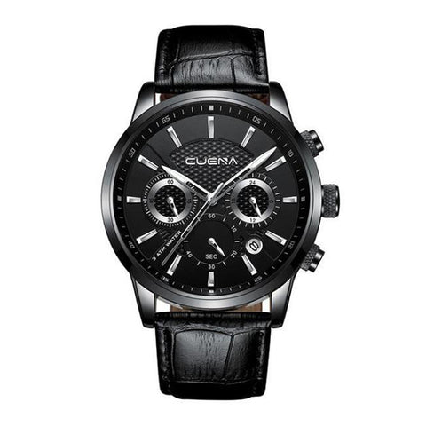 Caelan Leather Watch