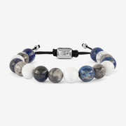 Natural Stone Blue Beaded Bracelet