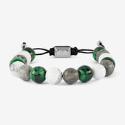 Natural Stone Green Beaded Bracelet
