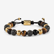 Tiger Eye and Agate Beaded Bracelet