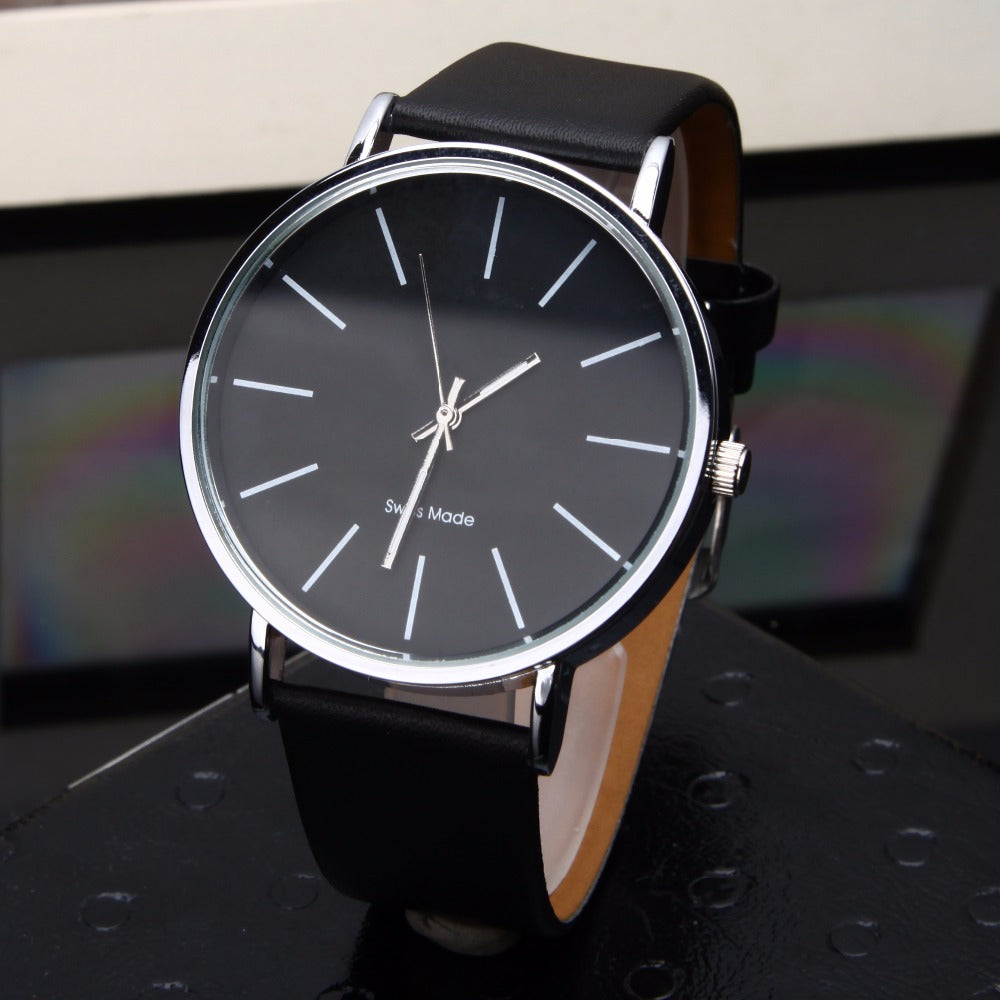 FREE Casual Men's Leather Watch