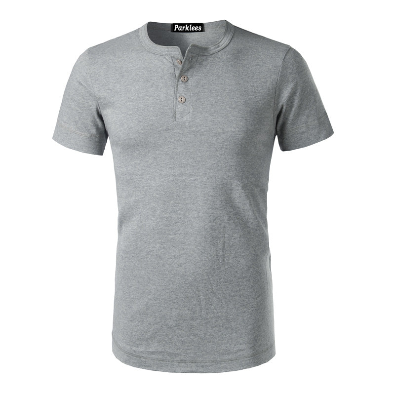 Slim Fit 3 Button Henley T-Shirt