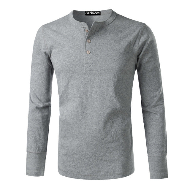 Amekaji Long Sleeve Henley Shirt