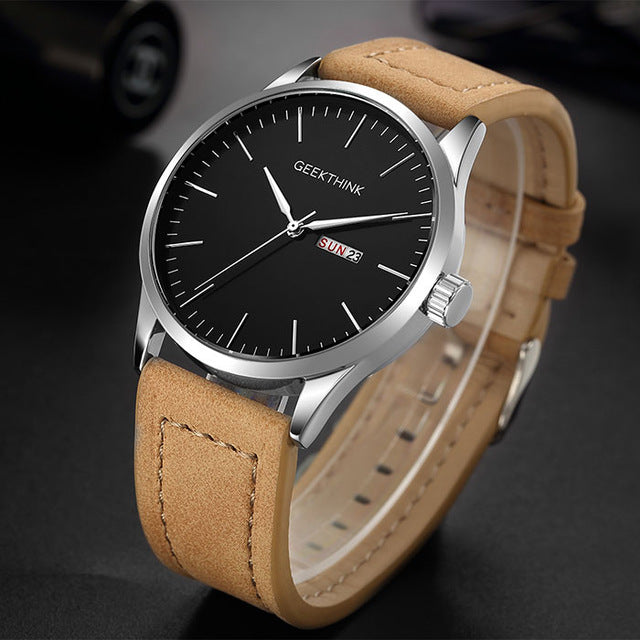 Black Steel Casual Watches