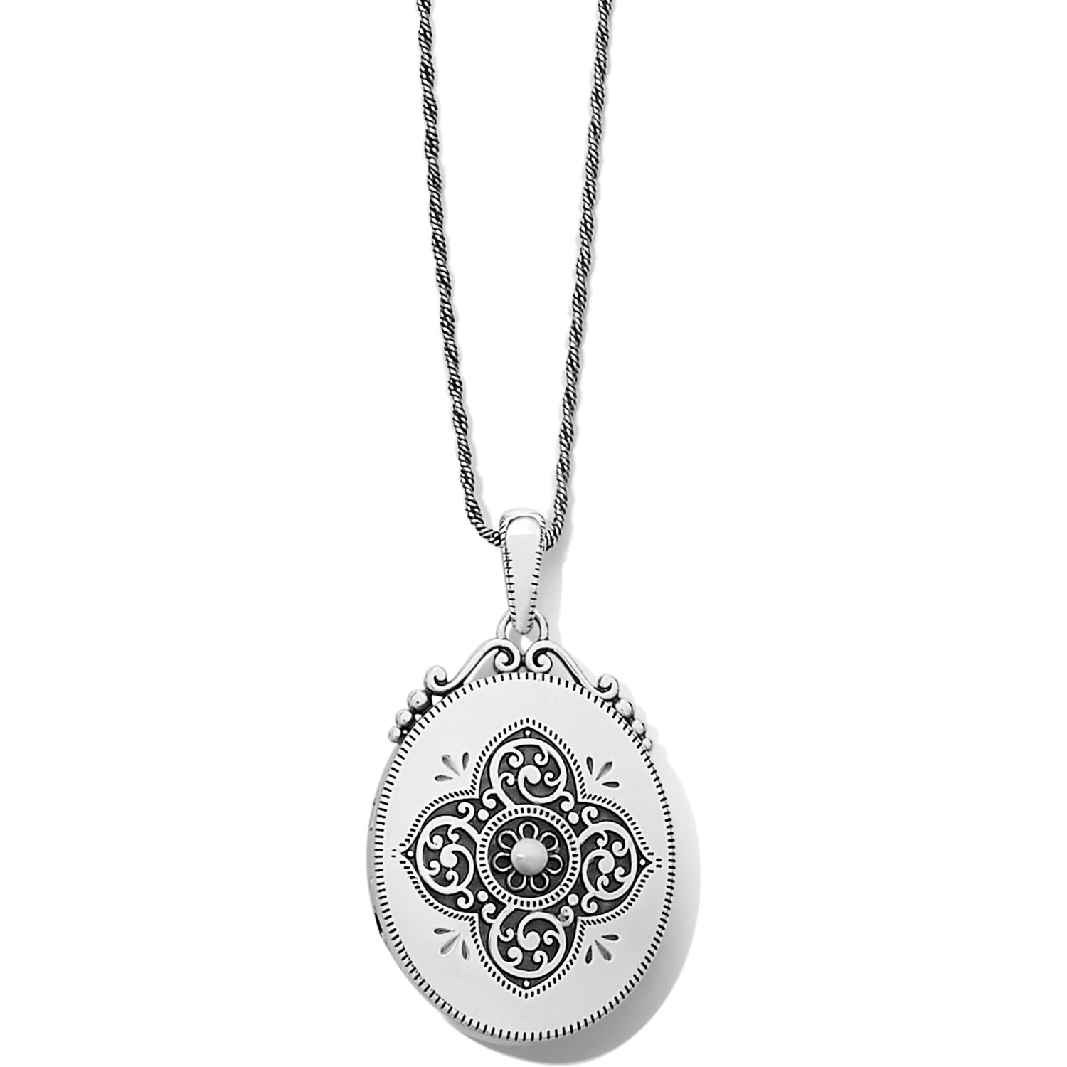 Etoile Oval Convertible Locket Necklace
